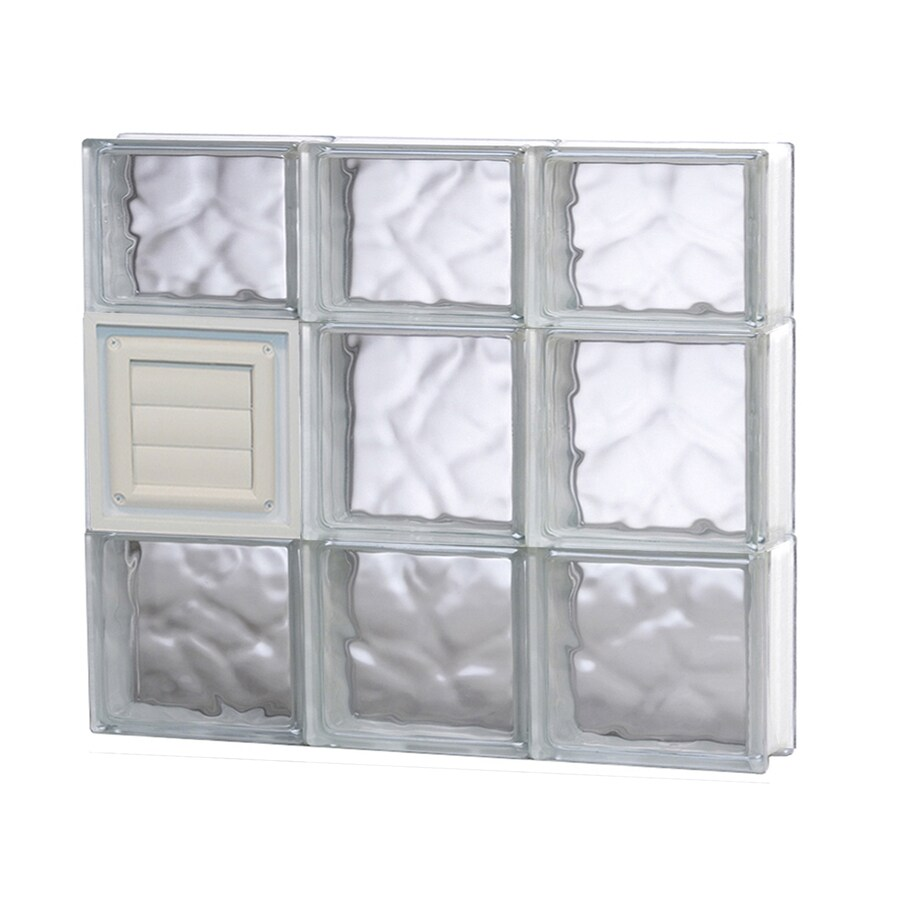 REDI2SET Wavy Glass Pattern Frameless Replacement Glass Block Window (Rough Opening: 24-in x 22-in; Actual: 23.25-in x 21.25-in)