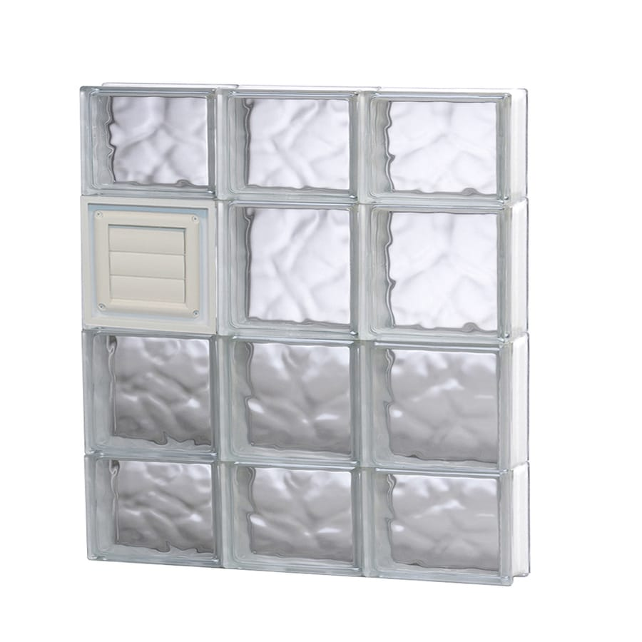 REDI2SET Wavy Glass Pattern Frameless Replacement Glass Block Window (Rough Opening: 24-in x 28-in; Actual: 23.25-in x 27-in)