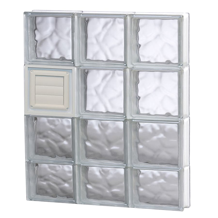 REDI2SET Wavy Glass Pattern Frameless Replacement Glass Block Window (Rough Opening: 24-in x 30-in; Actual: 23.25-in x 29-in)