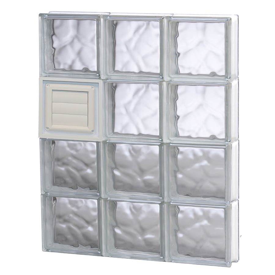 REDI2SET Wavy Glass Pattern Frameless Replacement Glass Block Window (Rough Opening: 24-in x 32-in; Actual: 23.25-in x 31-in)