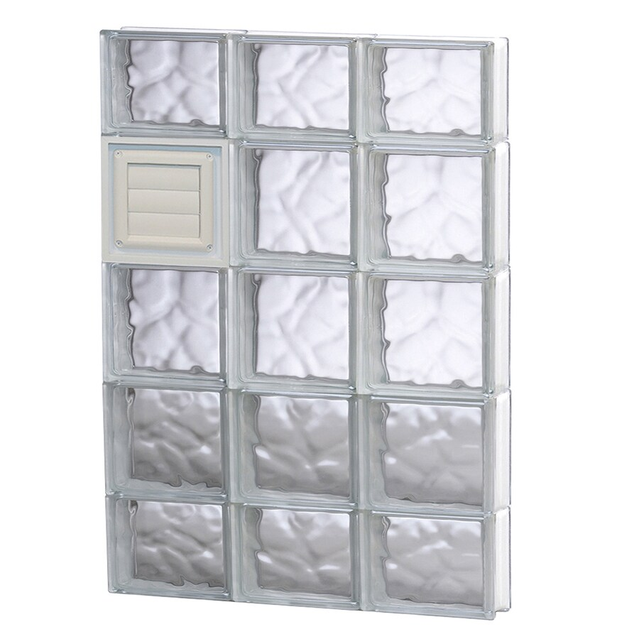 REDI2SET Wavy Glass Pattern Frameless Replacement Glass Block Window (Rough Opening: 24-in x 36-in; Actual: 23.25-in x 34.75-in)