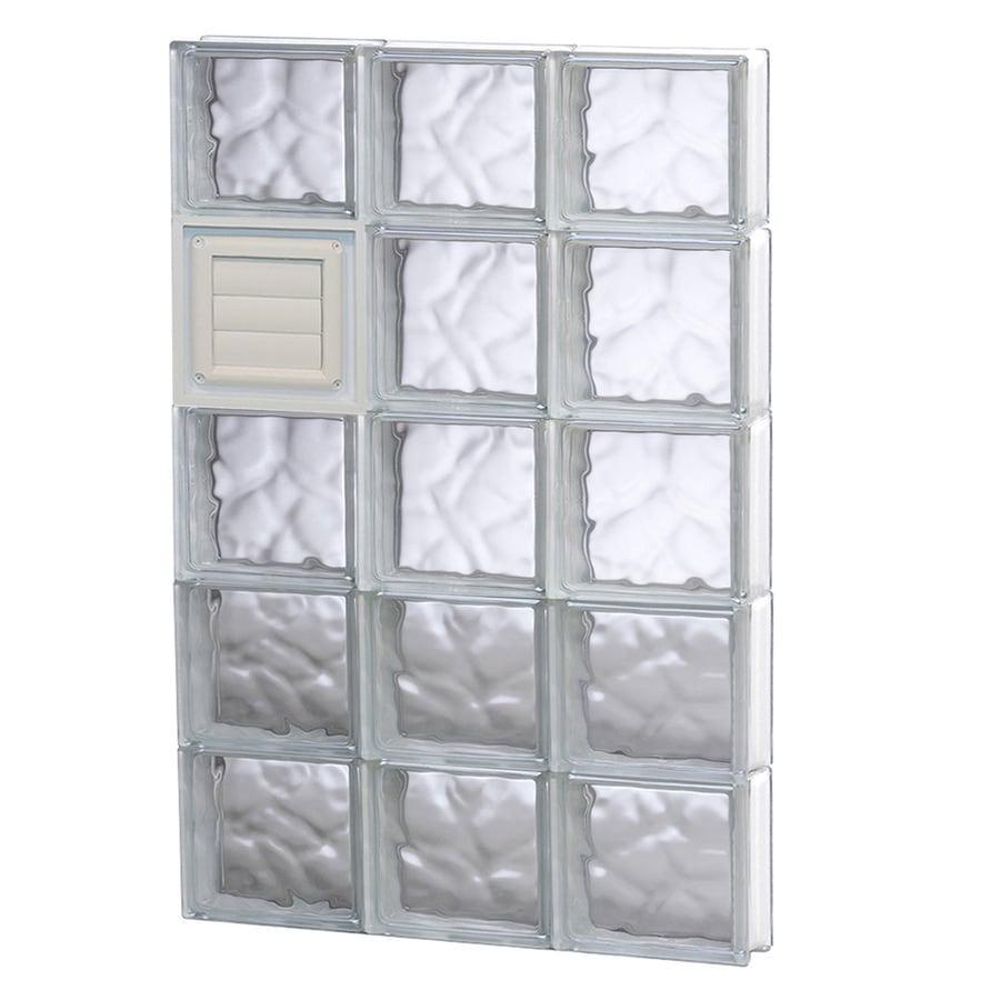 REDI2SET Wavy Glass Pattern Frameless Replacement Glass Block Window (Rough Opening: 24-in x 40-in; Actual: 23.25-in x 38.75-in)