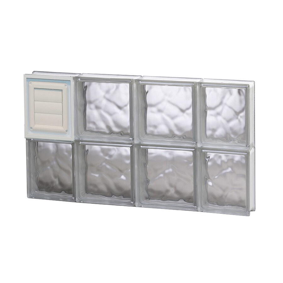 REDI2SET Wavy Glass Pattern Frameless Replacement Glass Block Window (Rough Opening: 28-in x 16-in; Actual: 27-in x 15.5-in)
