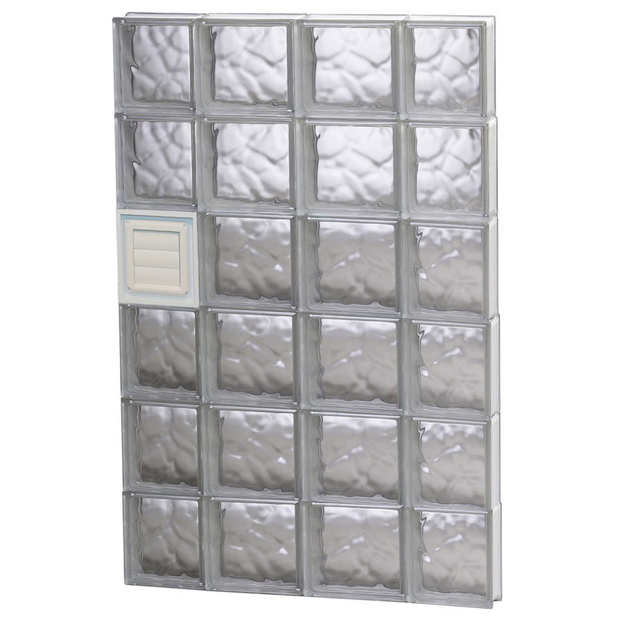 REDI2SET Wavy Pattern Frameless Replacement Glass Block Window (Rough Opening: 28-in x 48-in; Actual: 27-in x 46.5-in)
