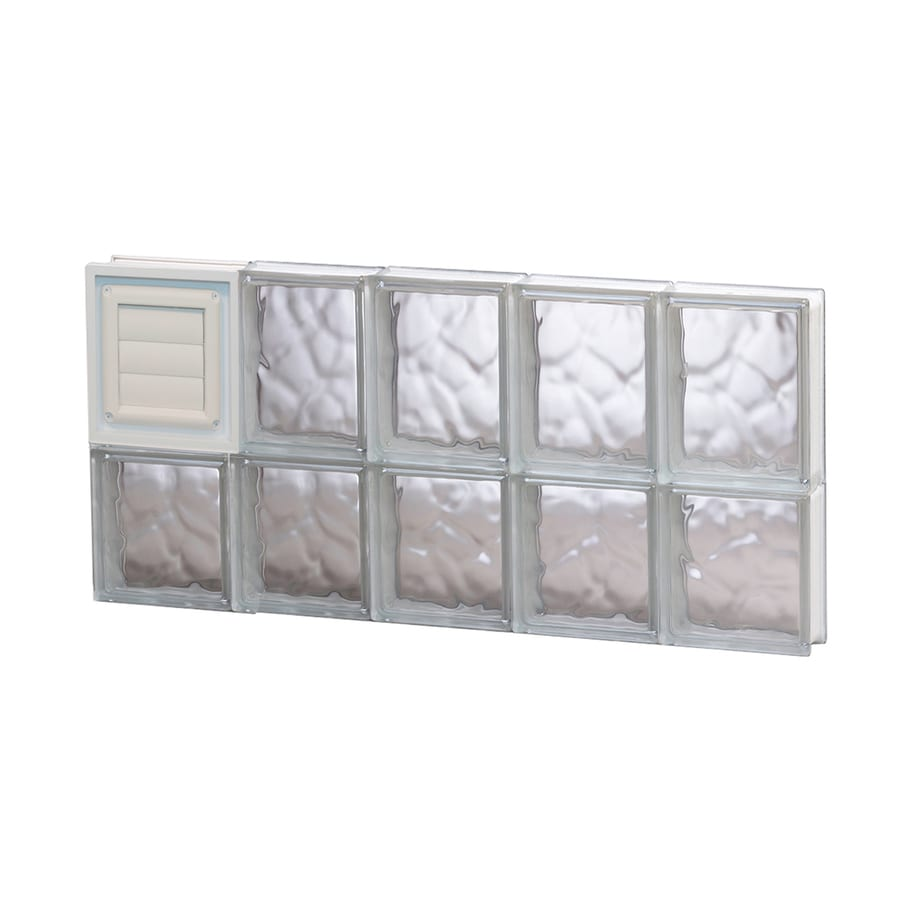 REDI2SET Wavy Glass Pattern Frameless Replacement Glass Block Window (Rough Opening: 30-in x 14-in; Actual: 28.75-in x 13.5-in)