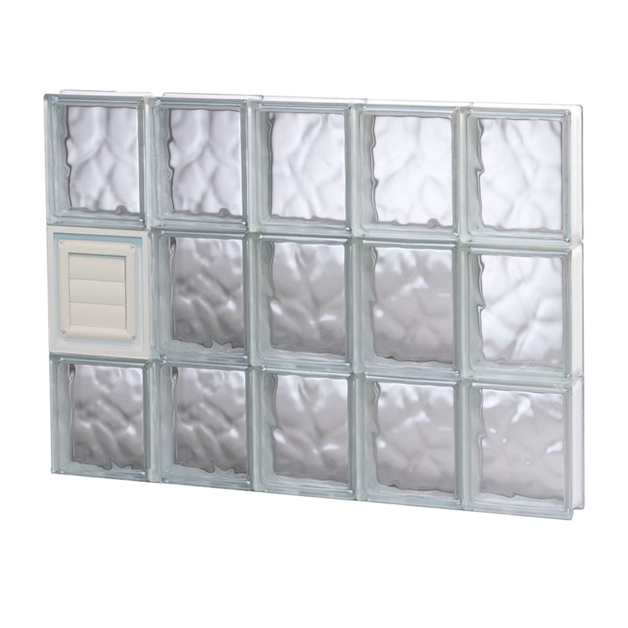 REDI2SET Wavy Glass Pattern Frameless Replacement Glass Block Window (Rough Opening: 30-in x 24-in; Actual: 28.75-in x 23.25-in)