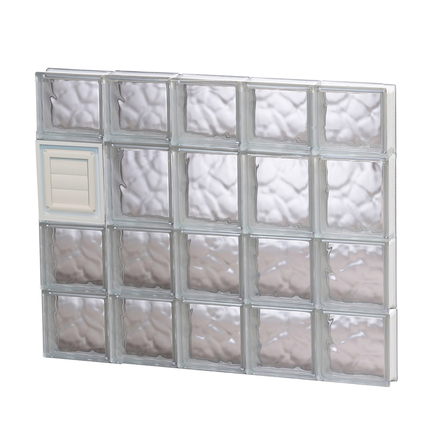 REDI2SET Wavy Glass Pattern Frameless Replacement Glass Block Window (Rough Opening: 30-in x 26-in; Actual: 28.75-in x 25-in)
