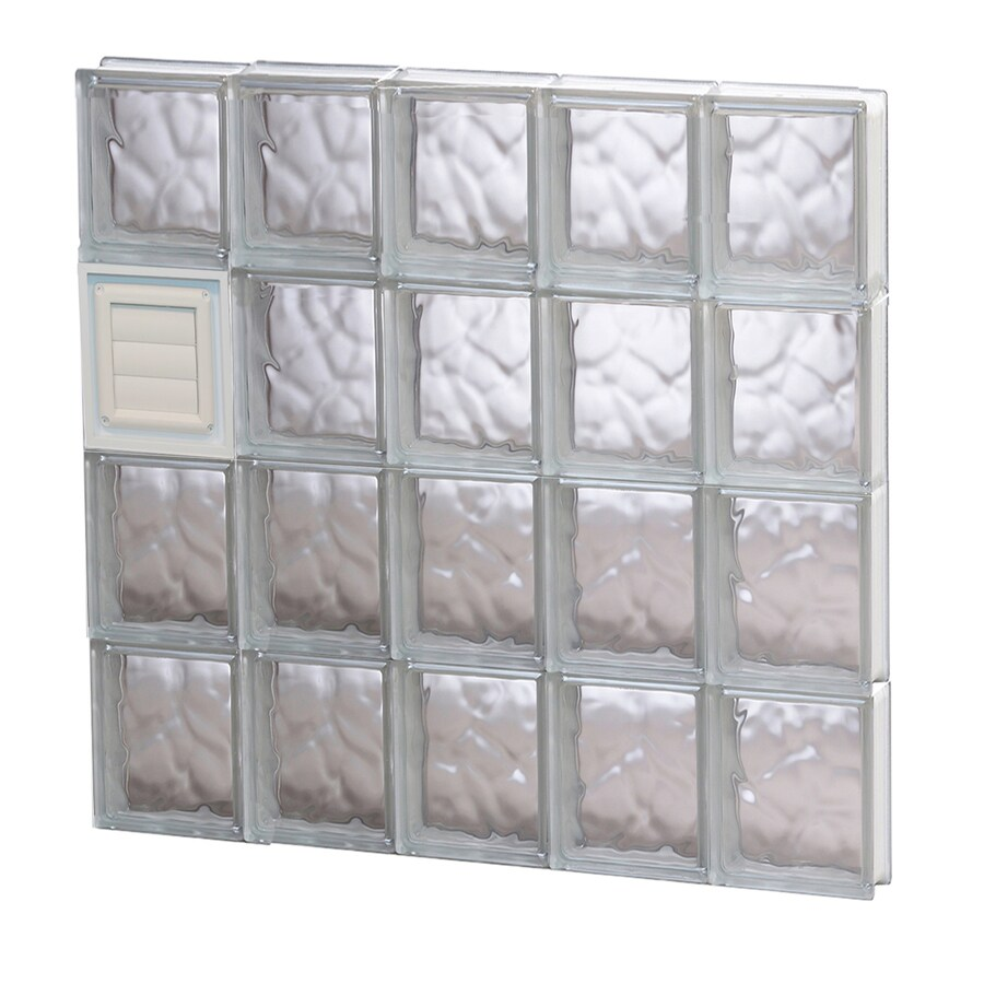 REDI2SET Wavy Glass Pattern Frameless Replacement Glass Block Window (Rough Opening: 30-in x 32-in; Actual: 28.75-in x 31-in)