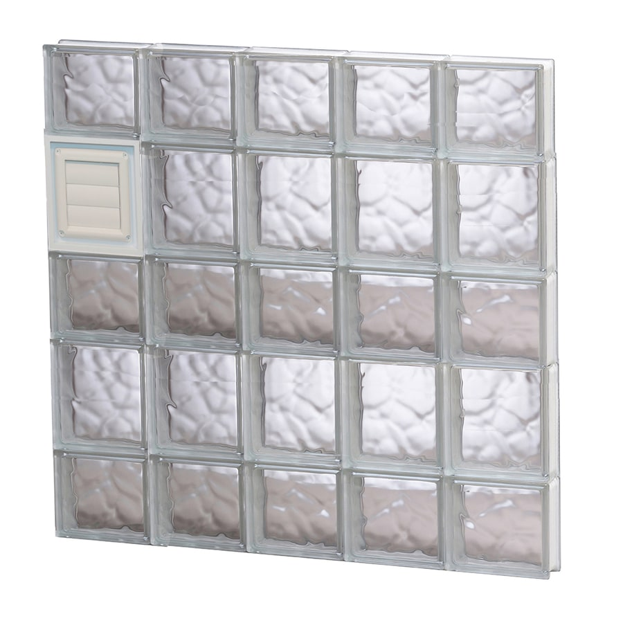 REDI2SET Wavy Pattern Frameless Replacement Glass Block Window (Rough Opening: 30-in x 34-in; Actual: 28.75-in x 32.75-in)