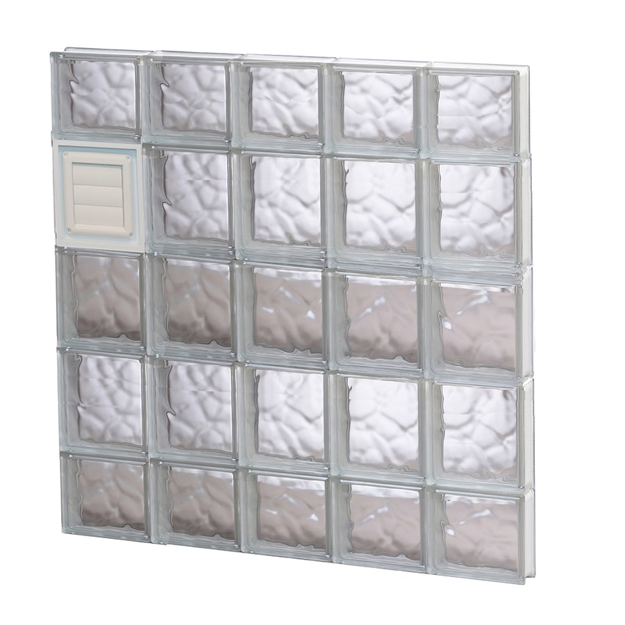 REDI2SET Wavy Pattern Frameless Replacement Glass Block Window (Rough Opening: 30-in x 36-in; Actual: 28.75-in x 34.75-in)