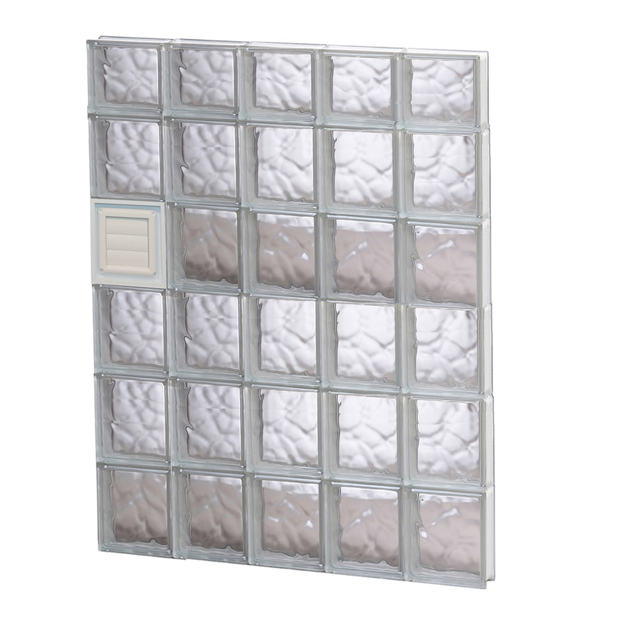 REDI2SET Wavy Glass Pattern Frameless Replacement Glass Block Window (Rough Opening: 30-in x 46-in; Actual: 28.75-in x 44.5-in)