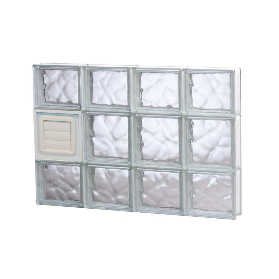 REDI2SET Wavy Pattern Frameless Replacement Glass Block Window (Rough Opening: 32-in x 20-in; Actual: 31-in x 19.25-in)