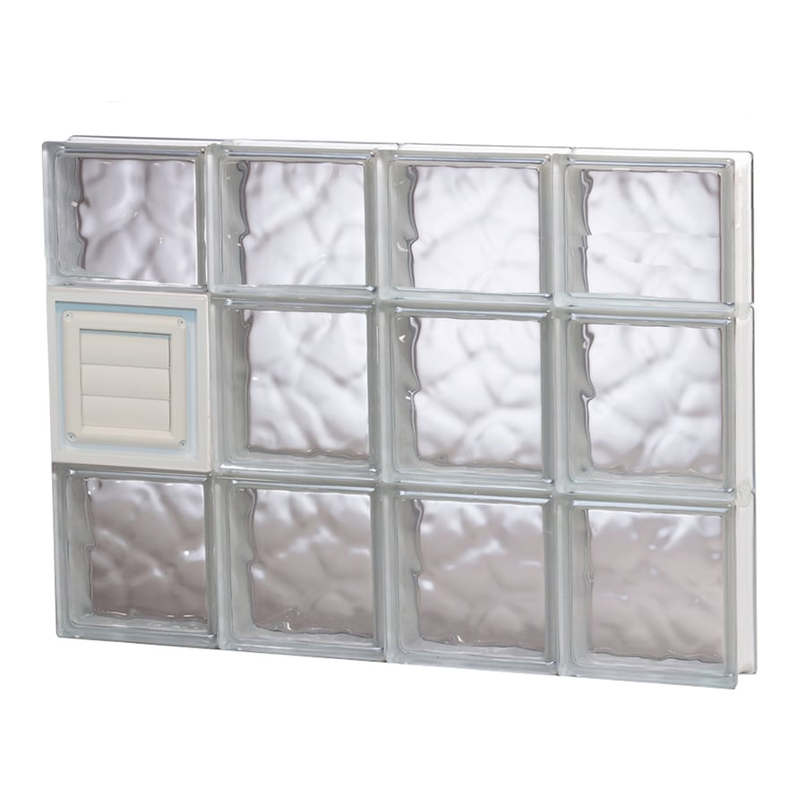 REDI2SET Wavy Glass Pattern Frameless Replacement Glass Block Window (Rough Opening: 32-in x 22-in; Actual: 31-in x 21.25-in)