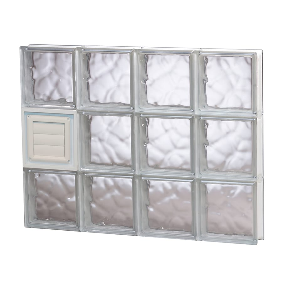 REDI2SET Wavy Glass Pattern Frameless Replacement Glass Block Window (Rough Opening: 32-in x 24-in; Actual: 31-in x 23.25-in)
