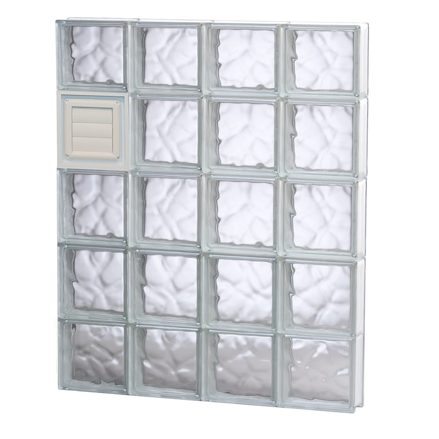 REDI2SET Wavy Glass Pattern Frameless Replacement Glass Block Window (Rough Opening: 32-in x 40-in; Actual: 31-in x 38.75-in)