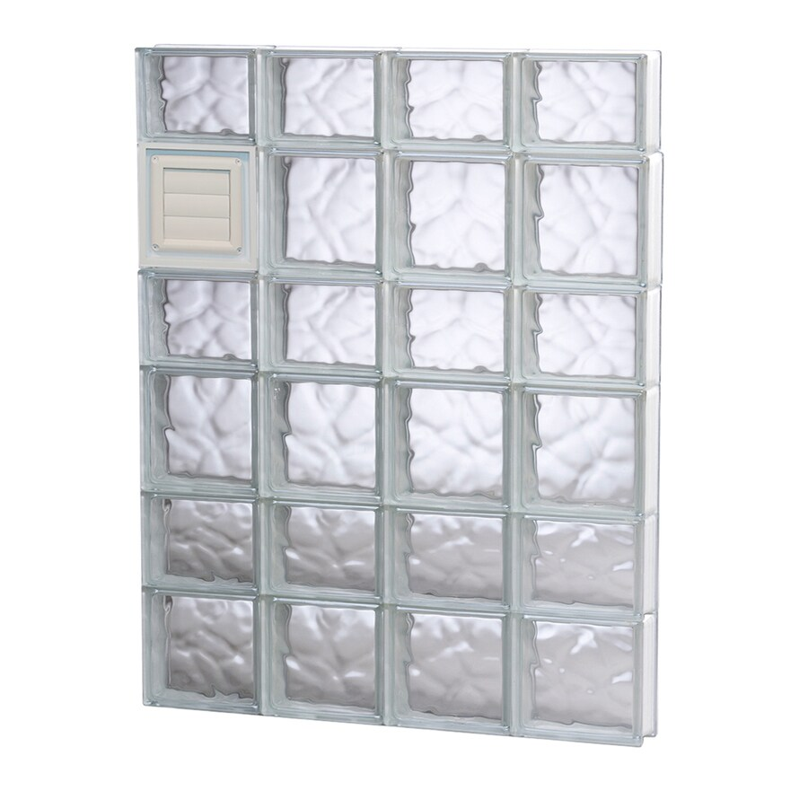 REDI2SET Wavy Glass Pattern Frameless Replacement Glass Block Window (Rough Opening: 32-in x 42-in; Actual: 31-in x 40.5-in)