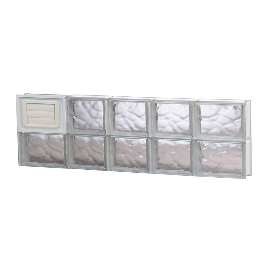REDI2SET Wavy Glass Pattern Frameless Replacement Glass Block Window (Rough Opening: 34-in x 12-in; Actual: 32.75-in x 11.5-in)