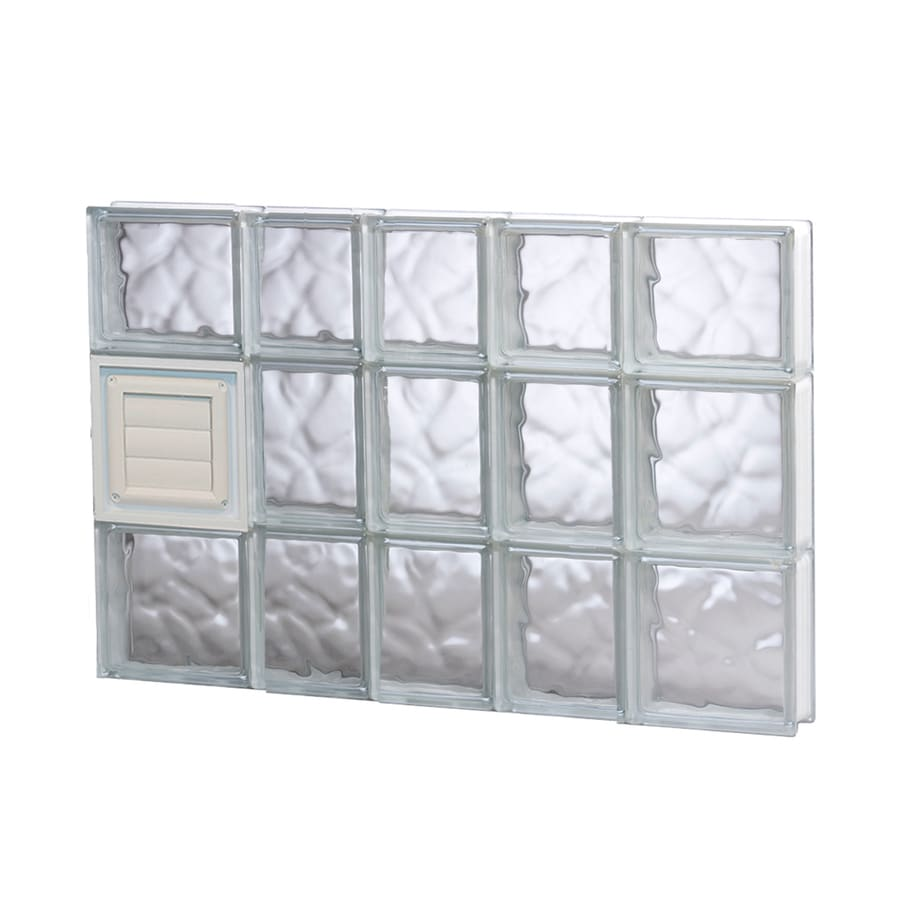 REDI2SET Wavy Pattern Frameless Replacement Glass Block Window (Rough Opening: 34-in x 22-in; Actual: 32.75-in x 21.25-in)