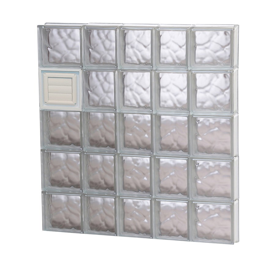 REDI2SET Wavy Glass Pattern Frameless Replacement Glass Block Window (Rough Opening: 34-in x 40-in; Actual: 32.75-in x 38.75-in)