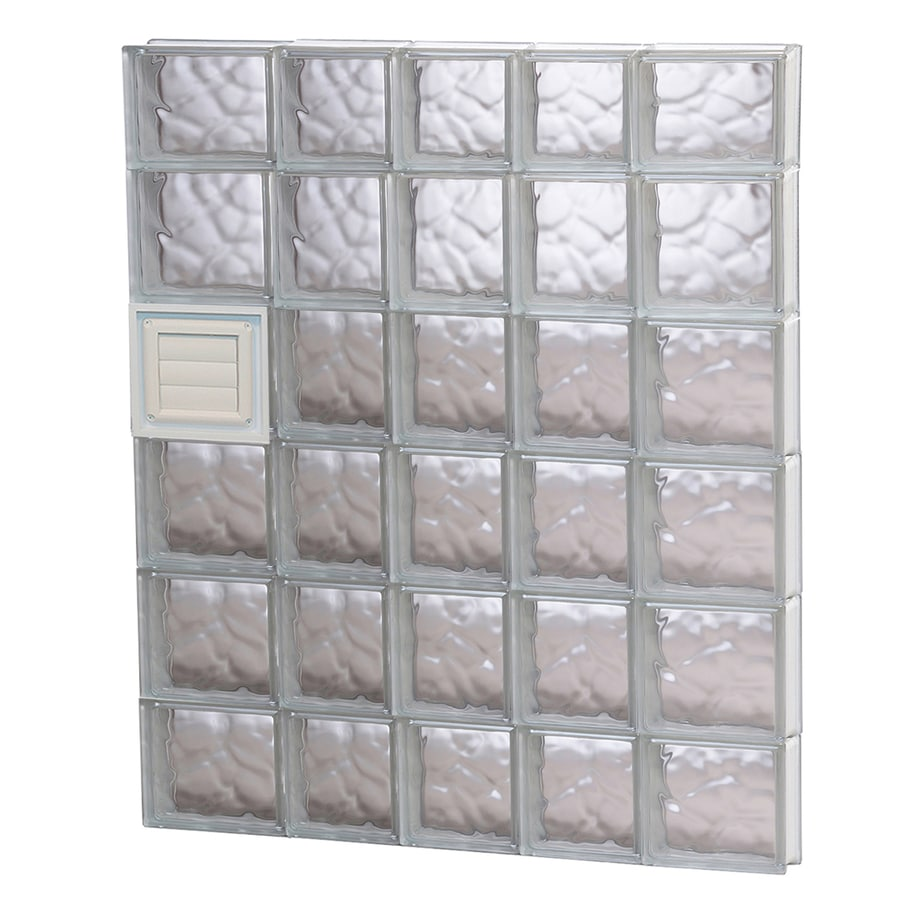 REDI2SET Wavy Glass Pattern Frameless Replacement Glass Block Window (Rough Opening: 34-in x 44-in; Actual: 32.75-in x 42.5-in)