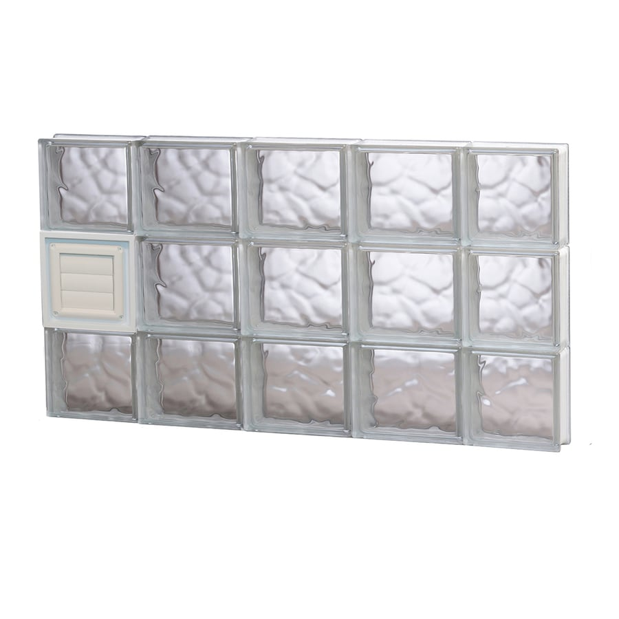 REDI2SET Wavy Glass Pattern Frameless Replacement Glass Block Window (Rough Opening: 36-in x 18-in; Actual: 34.75-in x 17.25-in)