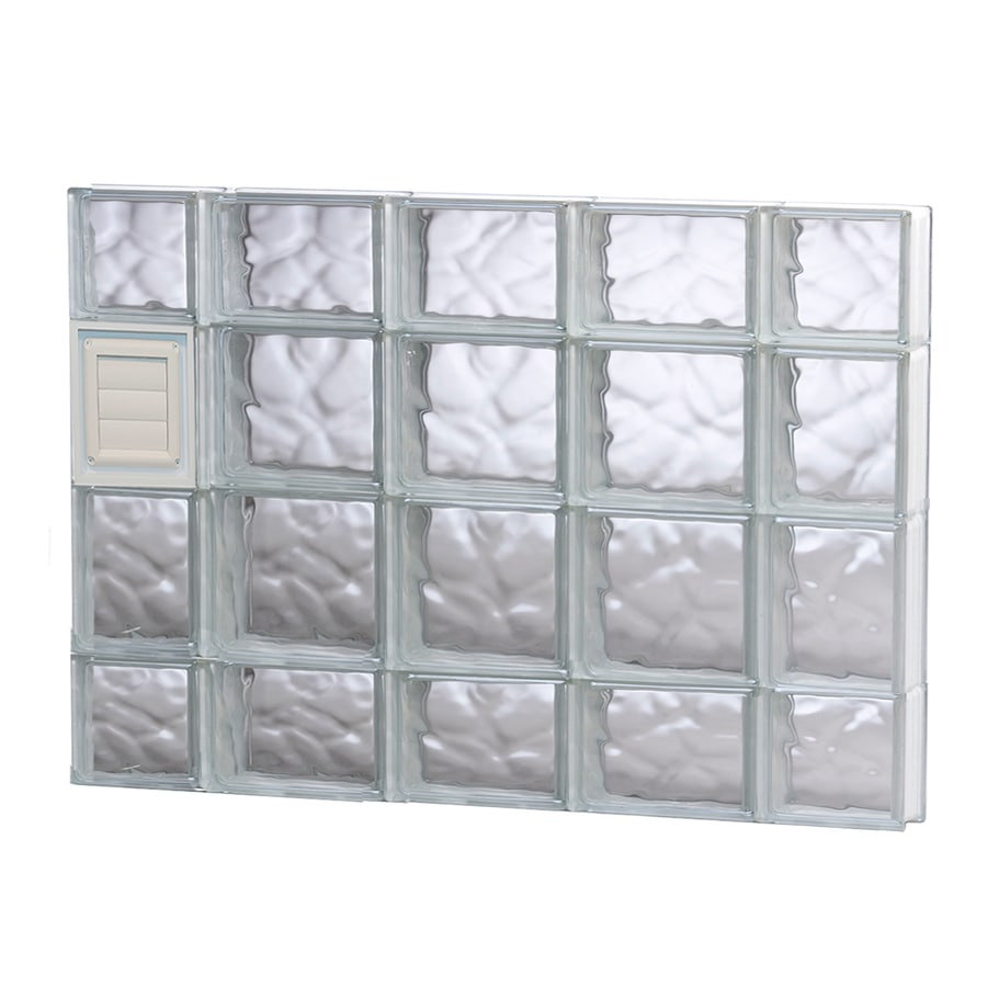 REDI2SET Wavy Glass Pattern Frameless Replacement Glass Block Window (Rough Opening: 36-in x 28-in; Actual: 34.75-in x 27-in)