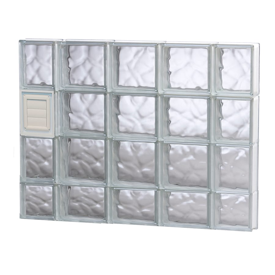 REDI2SET Wavy Glass Pattern Frameless Replacement Glass Block Window (Rough Opening: 36-in x 30-in; Actual: 34.75-in x 29-in)
