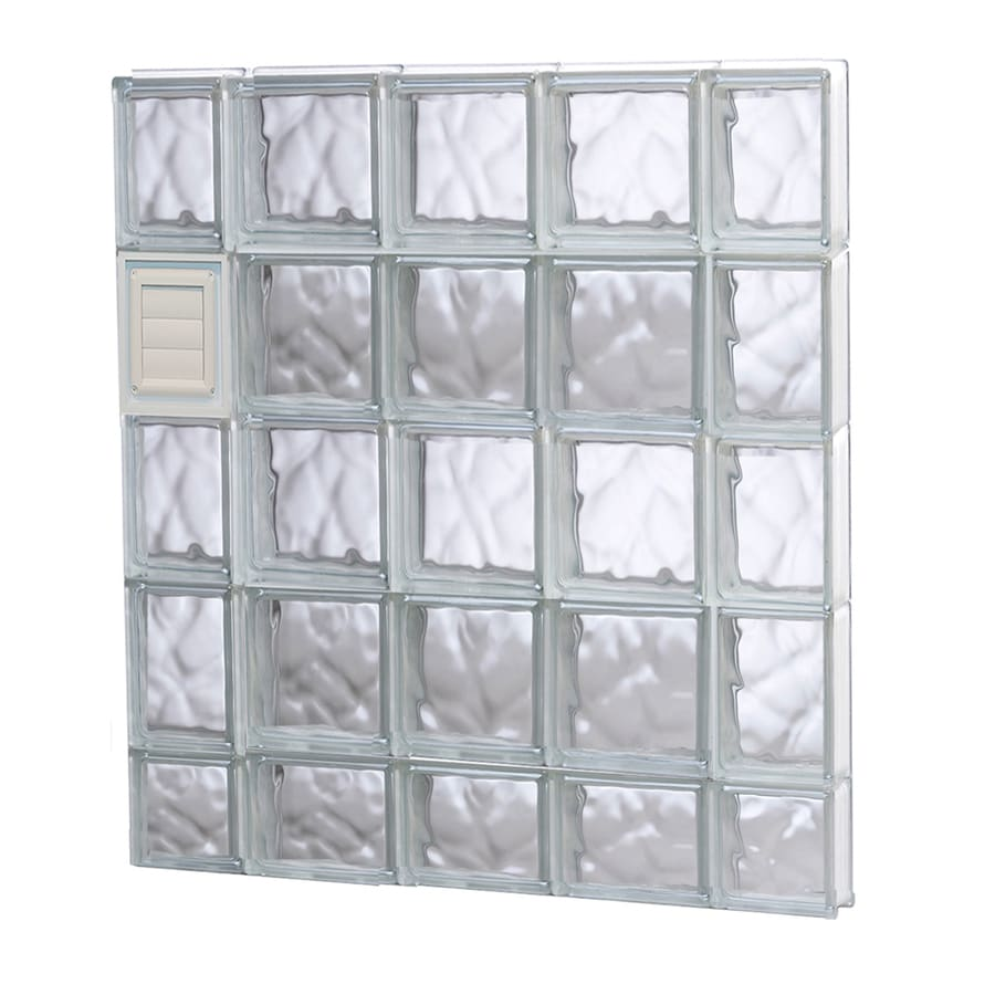 REDI2SET Wavy Glass Pattern Frameless Replacement Glass Block Window (Rough Opening: 36-in x 38-in; Actual: 34.75-in x 36.75-in)