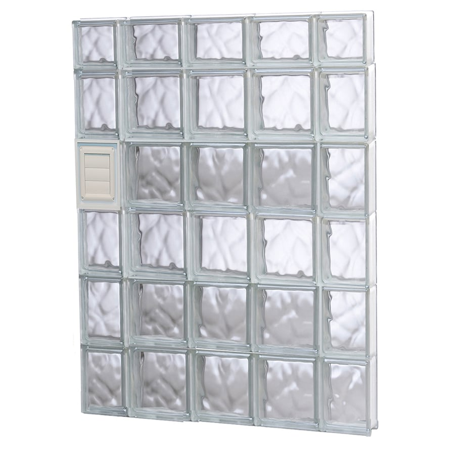 REDI2SET Wavy Glass Pattern Frameless Replacement Glass Block Window (Rough Opening: 36-in x 46-in; Actual: 34.75-in x 44.5-in)