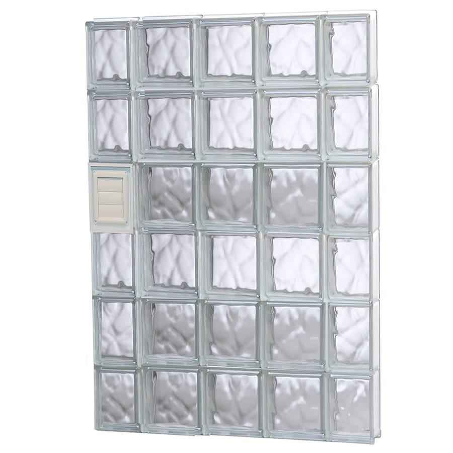 REDI2SET Wavy Glass Pattern Frameless Replacement Glass Block Window (Rough Opening: 36-in x 48-in; Actual: 34.75-in x 46.5-in)