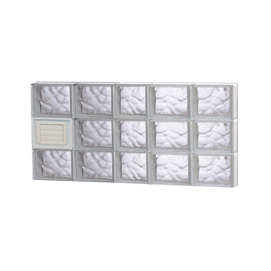 REDI2SET Wavy Glass Pattern Frameless Replacement Glass Block Window (Rough Opening: 38-in x 18-in; Actual: 36.75-in x 17.25-in)