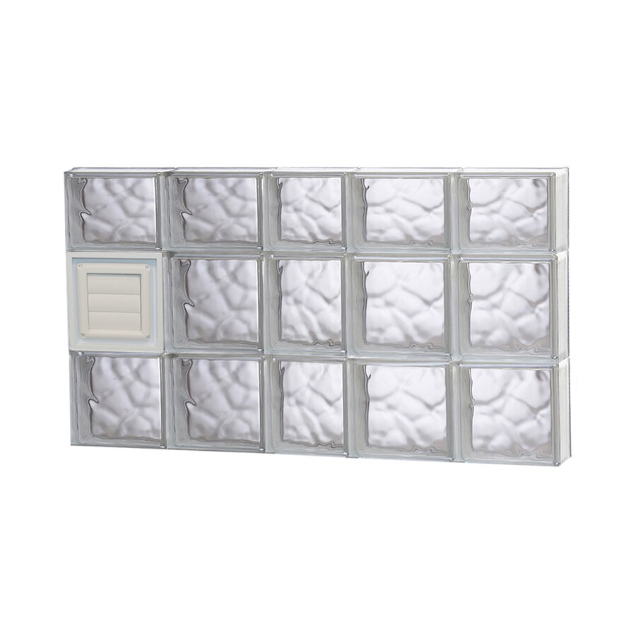 REDI2SET Wavy Glass Pattern Frameless Replacement Glass Block Window (Rough Opening: 38-in x 22-in; Actual: 36.75-in x 21.25-in)