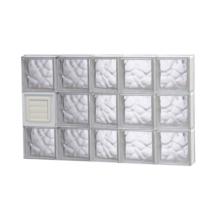 REDI2SET Wavy Glass Pattern Frameless Replacement Glass Block Window (Rough Opening: 38-in x 24-in; Actual: 36.75-in x 23.25-in)