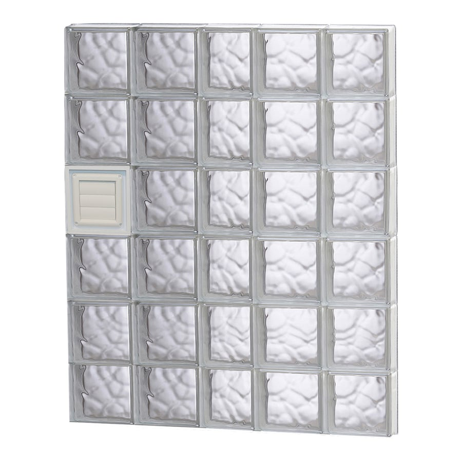 REDI2SET Wavy Glass Pattern Frameless Replacement Glass Block Window (Rough Opening: 38-in x 48-in; Actual: 36.75-in x 46.5-in)