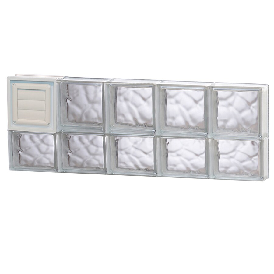 REDI2SET Wavy Glass Pattern Frameless Replacement Glass Block Window (Rough Opening: 40-in x 14-in; Actual: 38.75-in x 13.5-in)
