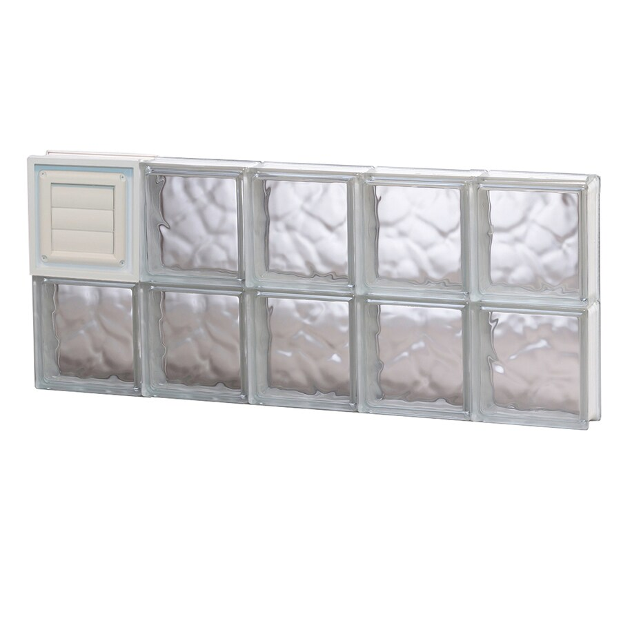 REDI2SET Wavy Glass Pattern Frameless Replacement Glass Block Window (Rough Opening: 40-in x 16-in; Actual: 38.75-in x 15.5-in)