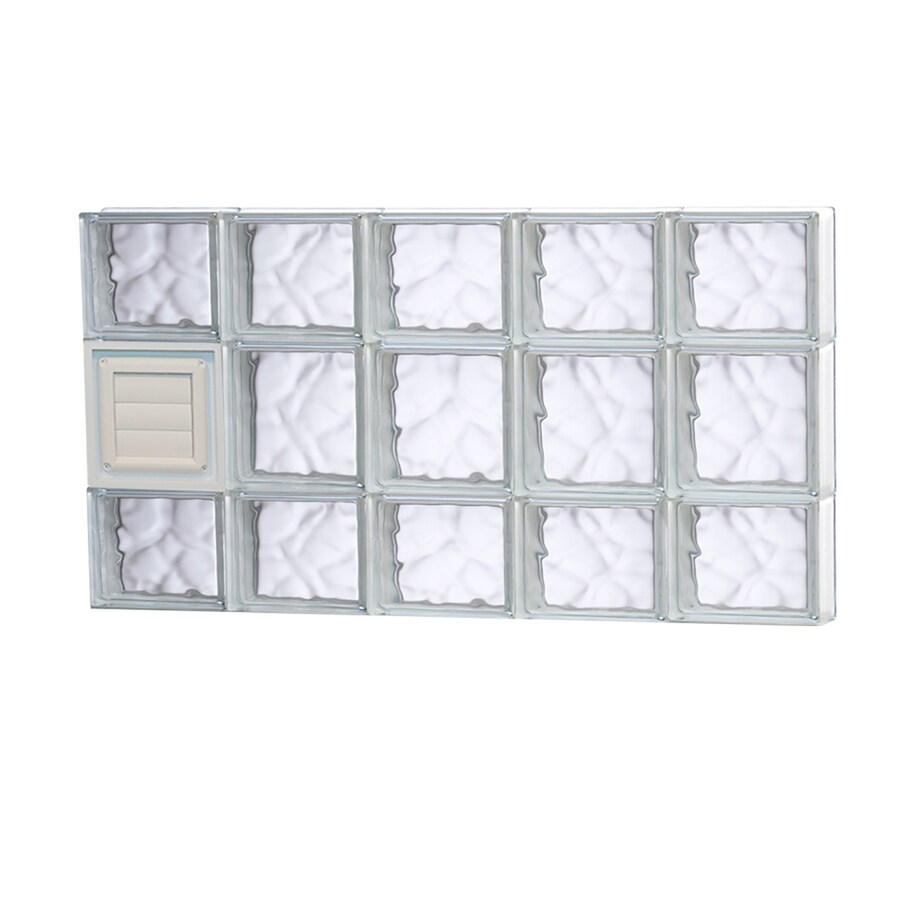 REDI2SET Wavy Glass Pattern Frameless Replacement Glass Block Window (Rough Opening: 40-in x 20-in; Actual: 38.75-in x 19.25-in)