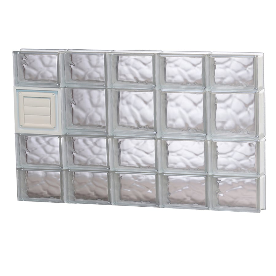REDI2SET Wavy Glass Pattern Frameless Replacement Glass Block Window (Rough Opening: 40-in x 26-in; Actual: 38.75-in x 25-in)
