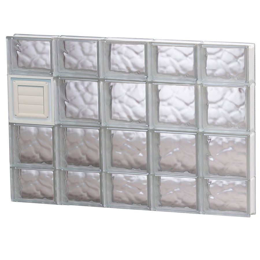 REDI2SET Wavy Glass Pattern Frameless Replacement Glass Block Window (Rough Opening: 40-in x 28-in; Actual: 38.75-in x 27-in)