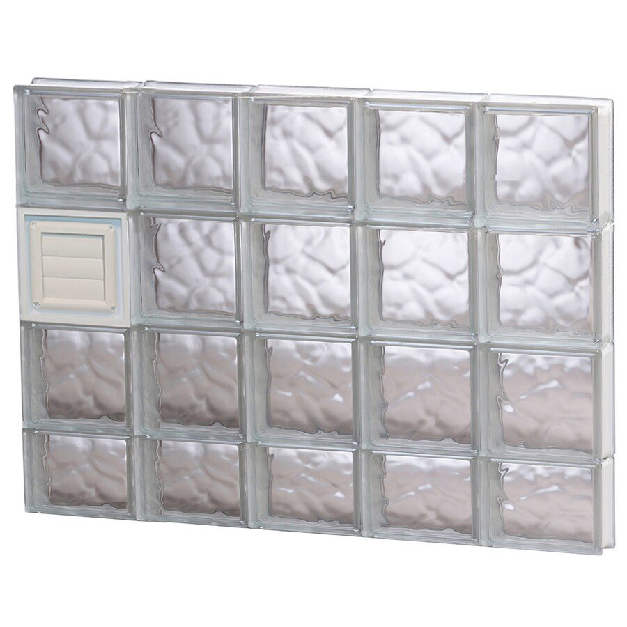 REDI2SET Wavy Pattern Frameless Replacement Glass Block Window (Rough Opening: 40-in x 30-in; Actual: 38.75-in x 29-in)
