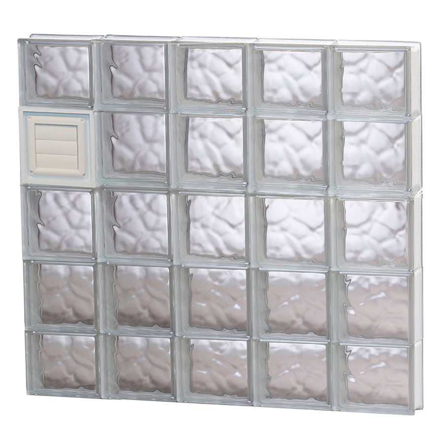 REDI2SET Wavy Glass Pattern Frameless Replacement Glass Block Window (Rough Opening: 40-in x 36-in; Actual: 38.75-in x 34.75-in)