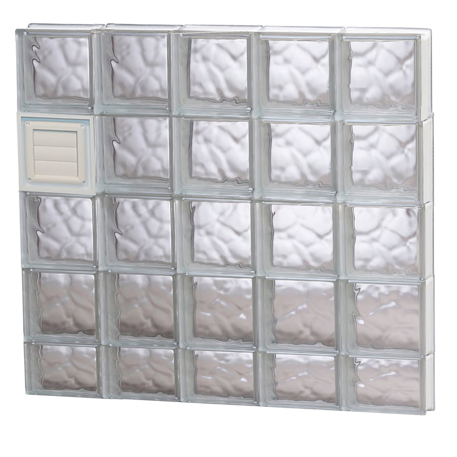 REDI2SET Wavy Glass Pattern Frameless Replacement Glass Block Window (Rough Opening: 40-in x 38-in; Actual: 38.75-in x 36.75-in)