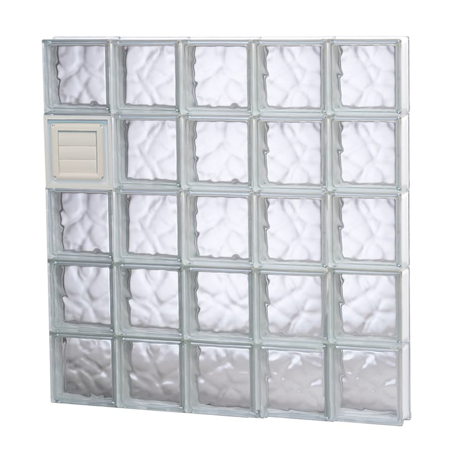 REDI2SET Wavy Glass Pattern Frameless Replacement Glass Block Window (Rough Opening: 40-in x 40-in; Actual: 38.75-in x 38.75-in)