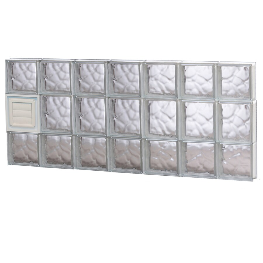 REDI2SET Wavy Glass Pattern Frameless Replacement Glass Block Window (Rough Opening: 42-in x 20-in; Actual: 40.25-in x 19.25-in)