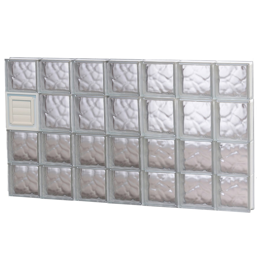 REDI2SET Wavy Glass Pattern Frameless Replacement Glass Block Window (Rough Opening: 42-in x 26-in; Actual: 40.2500-in x 25-in)