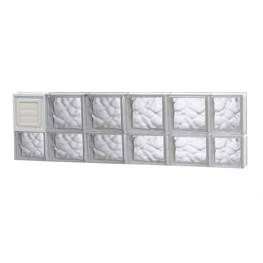 REDI2SET Wavy Glass Pattern Frameless Replacement Glass Block Window (Rough Opening: 44-in x 14-in; Actual: 42.5000-in x 13.5000-in)