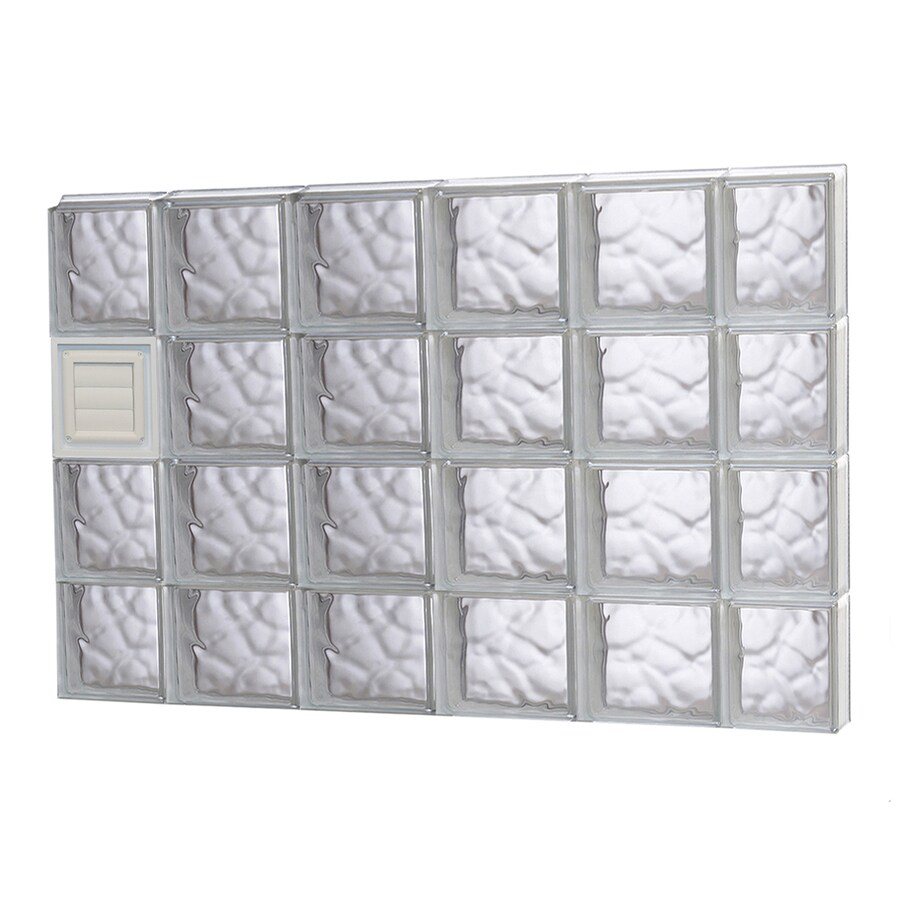 REDI2SET Wavy Glass Pattern Frameless Replacement Glass Block Window (Rough Opening: 44-in x 32-in; Actual: 42.5-in x 31-in)