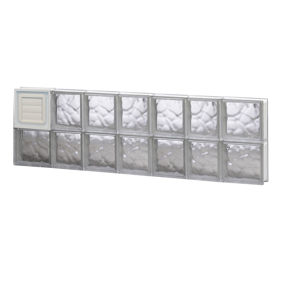 REDI2SET Wavy Glass Pattern Frameless Replacement Glass Block Window (Rough Opening: 46-in x 16-in; Actual: 44.25-in x 15.5-in)