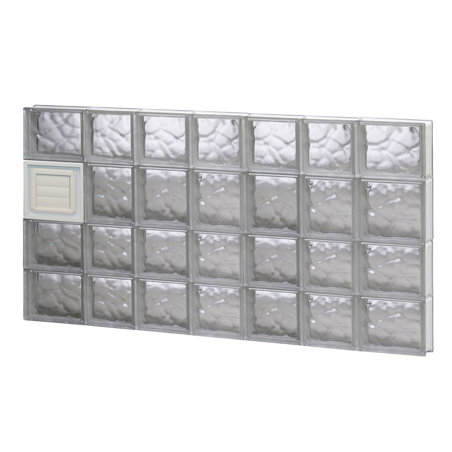 REDI2SET Wavy Glass Pattern Frameless Replacement Glass Block Window (Rough Opening: 46-in x 26-in; Actual: 44.25-in x 25-in)