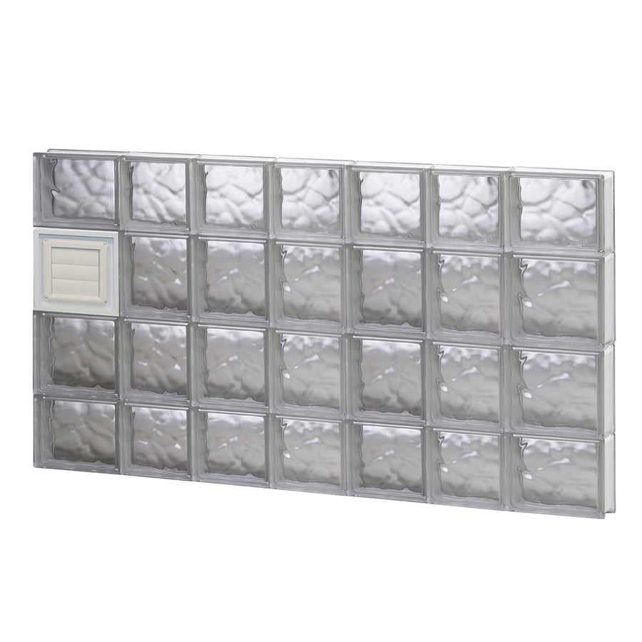 REDI2SET Wavy Glass Pattern Frameless Replacement Glass Block Window (Rough Opening: 46-in x 28-in; Actual: 44.25-in x 27-in)